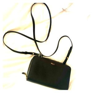 Ralph Lauren Black Zipper crossbody bag